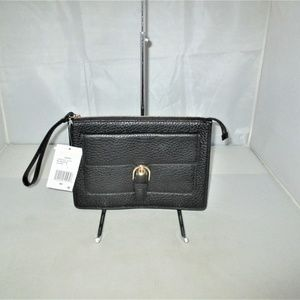 Michael Kors Cooper Pebble Leath Carryall Wristlet